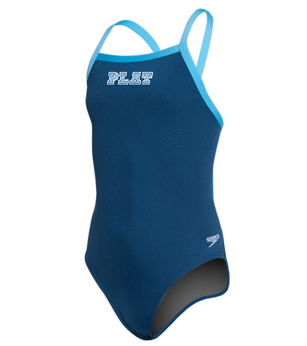 Youth Solid Endurance + Flyback Training - Speedo Girls' Solid Endurance + Flyback Training Swimsuit