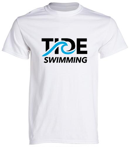 TIDE Swimming White - SwimOutlet Cotton Unisex Short Sleeve T-Shirt