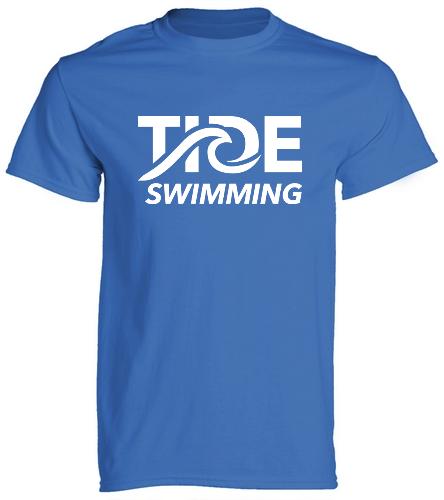 TIDE Swimming Royal - SwimOutlet Cotton Unisex Short Sleeve T-Shirt