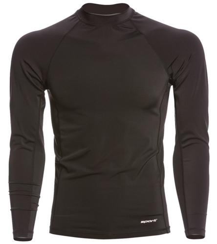 Tide Swim Instructor Shirt - Men - Sporti Men's Solid L/S UPF 50+ Sport Fit Rash Guard