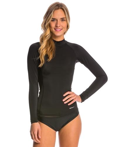 Tide Swim Instructor Shirt - Women - Sporti Women's Solid L/S UPF 50+ Sport Fit Rash Guard