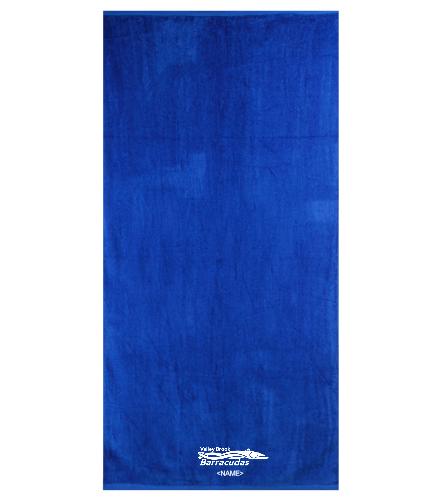 Valley Brook Royal - Royal Comfort Terry Velour Beach Towel 32 X 64