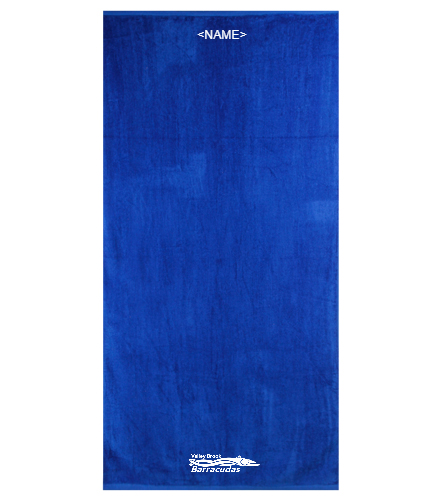 Team Towel Personalization - Royal Comfort Terry Velour Beach Towel 32 X 64