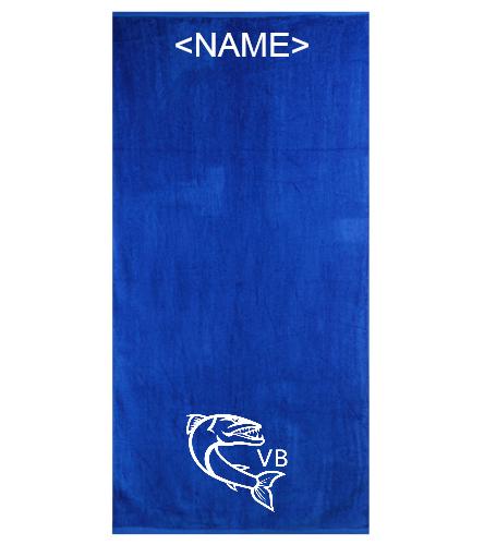 towlelogo - Royal Comfort Terry Velour Beach Towel 32 X 64