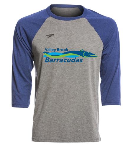 Barracuda Fan T-shirt - Speedo Unisex Baseball Tee Shirt
