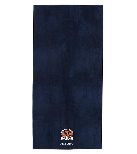Navy Dolphin Towel - Royal Comfort Terry Velour Beach Towel 34X 70