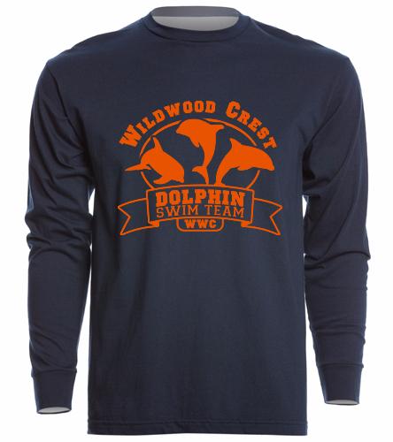 WWC Long Sleeve Orange Logo Tee - Unisex Long Sleeve Crew/Cuff
