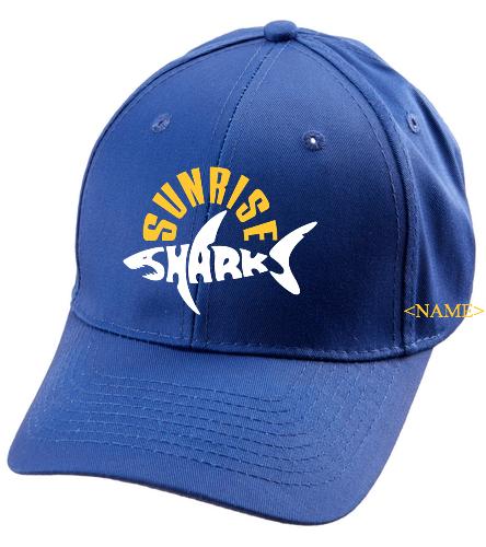 Hat/Blue - SwimOutlet Unisex Performance Twill Cap