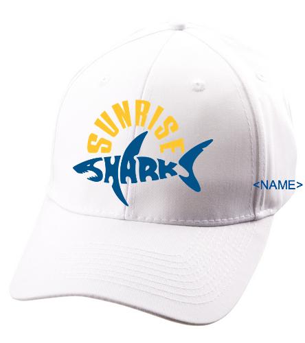 Hat/White - SwimOutlet Unisex Performance Twill Cap