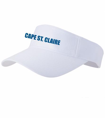 Cape White - SwimOutlet Custom Cotton Twill Visor