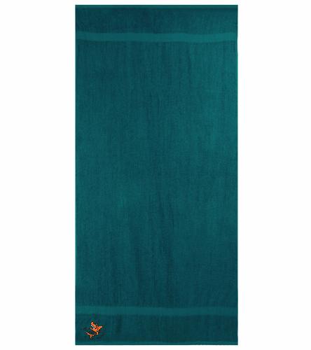 LSC Hunter Green Towel - Royal Comfort Terry Cotton Beach Towel 32 x 64