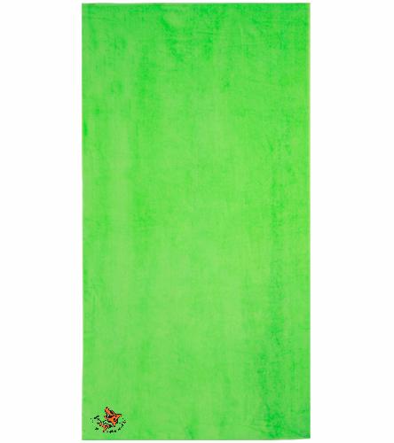 LSC Lime Green Towel 2 - Royal Comfort Terry Velour Beach Towel 32 X 64