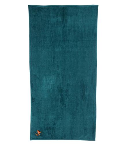 LSC Hunter Green Terry Towel - Royal Comfort Terry Velour Beach Towel 32 X 64