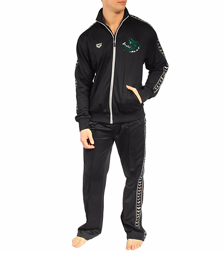 LSC Arena Youth Set green white logo - Arena Throttle Youth Warm Up Set