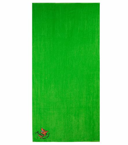 LSC Lime Green Towel 3 - Diplomat Terry Velour Beach Towel 30 x 60