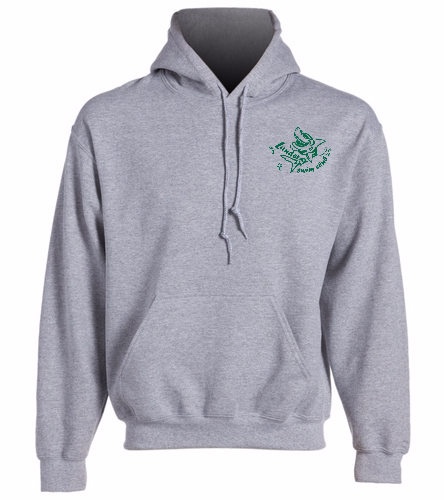 LSC Grey Hoodie Green Logo - SwimOutlet Heavy Blend Unisex Adult Hooded Sweatshirt