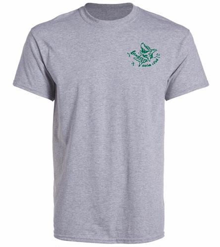 LSC Grey Shirt Green Logo - SwimOutlet Unisex Cotton Crew Neck T-Shirt