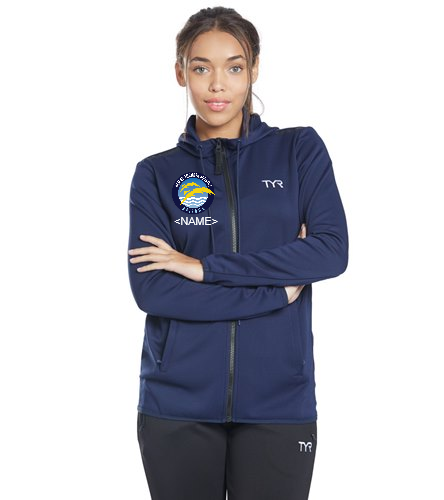 Thunder  - TYR Women's Team Full Zip Hoodie