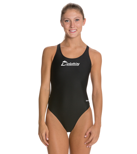 PAC Dolphins - Sporti Solid Wide Strap One Piece Swimsuit