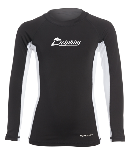 YOUTH - PAC Dolphins - Sporti Youth Unisex L/S UPF 50+ Sport Fit Rash Guard