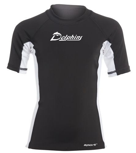 Youth - PAC Dolphins - Sporti Youth Unisex S/S UPF 50+ Sport Fit Rash Guard