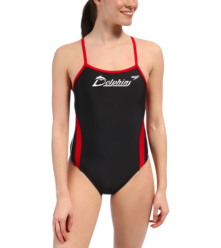 Youth - PAC Dolphins - Speedo Rapid Spliced Energy Back One Piece Swimsuit