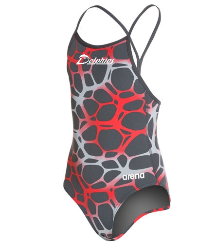 Youth- PAC Dolphins - Arena Polycarbonite Girls Drop Back One Piece Swimsuit
