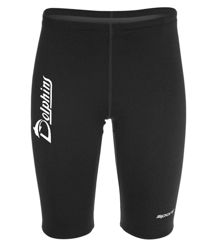 Poly Youth Jammer - logo - Sporti Poly Pro Solid Jammer Swimsuit Youth (22-28)