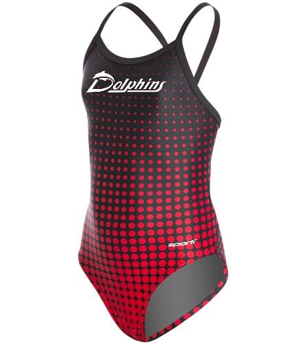 Sporti Molecule w/ logo - Sporti Molecule Thin Strap One Piece Swimsuit Youth (22-28)