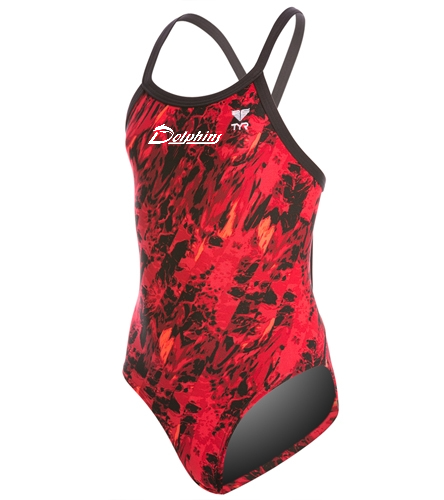 PAC Dolphins - TYR Youth Glisade Diamondfit One Piece Swimsuit