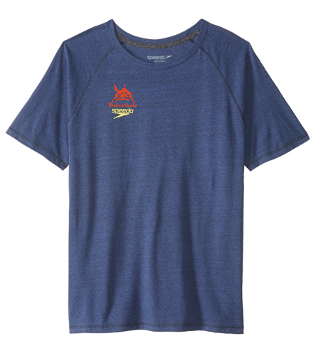 men's speedo t-shirt - Speedo Men's Pocket Size Logo Graphic S/S Fitness Shirt