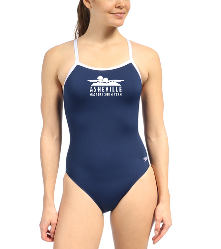 Asheville Masters Swimming - Speedo Solid Endurance + Flyback Training One Piece Swimsuit