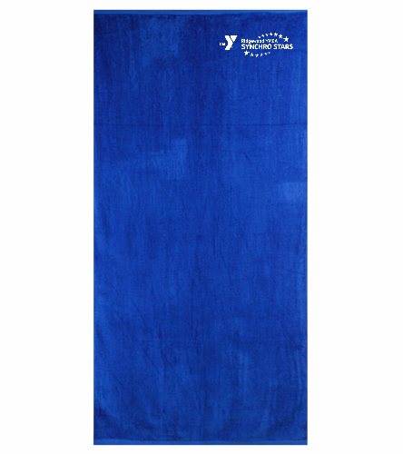 YM Team Towel - Royal Comfort Terry Velour Beach Towel 32 X 64