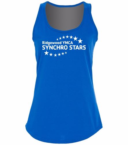 YMCA SYNSTARS TANK TOP - SwimOutlet Women's Cotton Racerback Tank Top