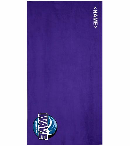 Wave - Royal Comfort Terry Velour Beach Towel 32 X 64