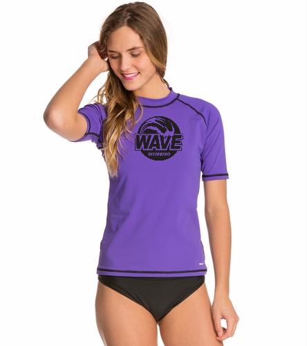 Wave Purple - Sporti Women's S/S Swim Shirt