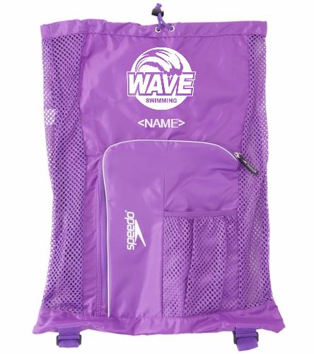 Wave Equipment Backpack purple - Speedo Deluxe Ventilator Mesh Bag