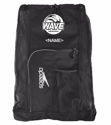 Wave Equipment Backpack Black - Speedo Deluxe Ventilator Mesh Bag
