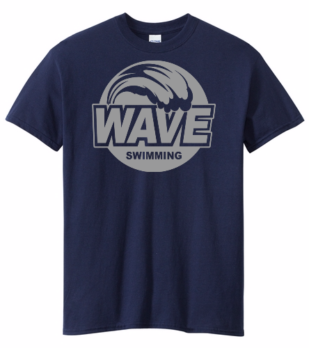 Wave Blue with Gray Logo - Heavy Cotton Adult T-Shirt