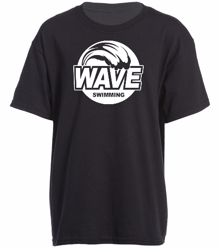 Wave Black - Heavy Cotton Youth T-Shirt