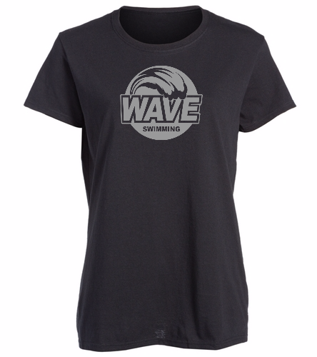 Wave Black with gray logo -  Heavy Cotton Missy Fit T-Shirt