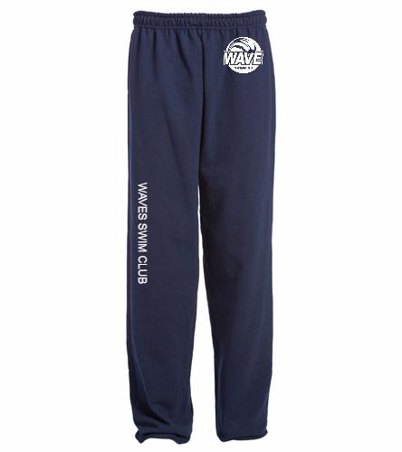 Waves Navy Adult Sweatpants  -  Heavy Blend Adult Sweatpant