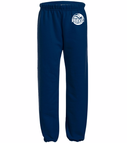 Wave Navy with white logo - Heavy Blend Youth Sweatpant