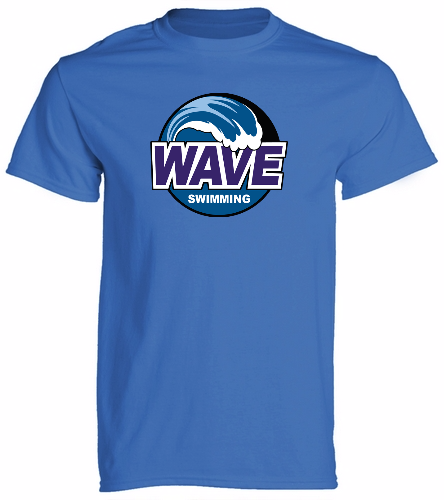 Wave Blue -  Unisex 100% Cotton 30's RS S/S