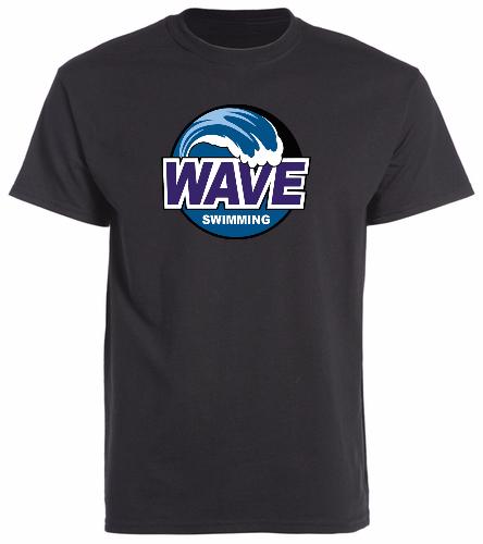 Wave Black -  Unisex 100% Cotton 30's RS S/S
