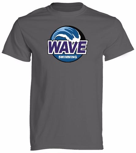 WAVE Gray -  Unisex 100% Cotton 30's RS S/S