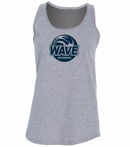 Wave Gray -  Ladies 5.4-oz 100% Cotton Tank Top