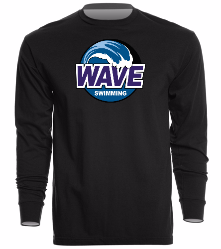 Wave Black - Unisex Long Sleeve Crew/Cuff