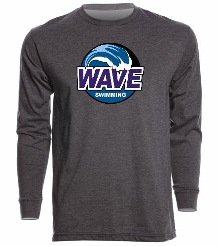 Wave Gray - Unisex Long Sleeve Crew/Cuff