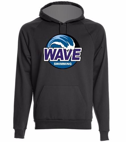 Wave black - California Fleece Pullover Hoodie